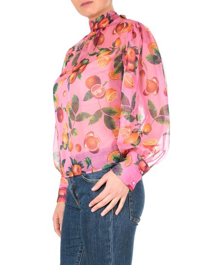 MSGM - Pink blouse with fruit print