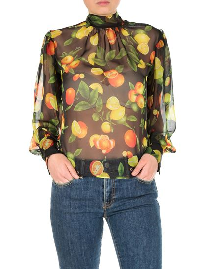 MSGM - Black blouse with fruit print