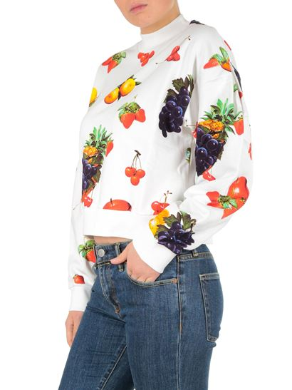 MSGM - White sweatshirt with fruit print