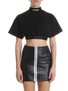 Heron Preston - Black cropped turtleneck top