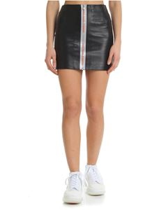 Heron Preston - Black leather short skirt
