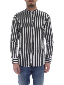 Paolo Pecora - White and green striped shirt