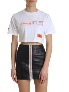 Heron Preston - White cropped cotton T-shirt
