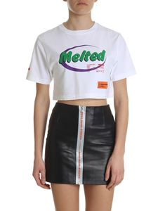 Heron Preston - Cropped white cotton t-shirt