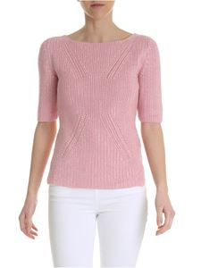 Ermanno Scervino - Pink knitted top with rhinestones