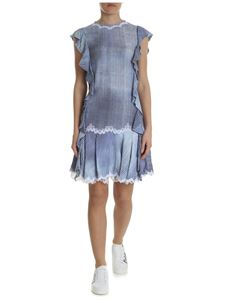 Ermanno Scervino - Marocain dress with striped pattern