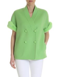 Ermanno Scervino - Double-breasted jacket in lime green