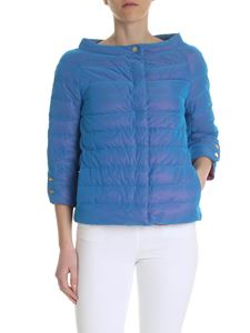 Herno - Down jacket in light blue technical fabric