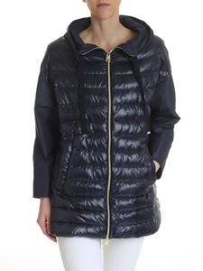 Herno - Dark blue hooded down jacket