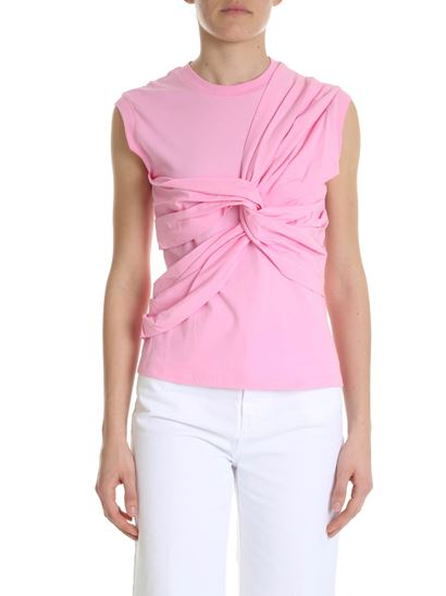 MSGM - Pink top with crossover detail