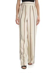 Alberta Ferretti - Trousers with beige stripes