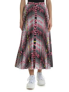MSGM - White and black pleated skirt