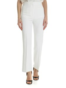 Alberta Ferretti - White flared trousers