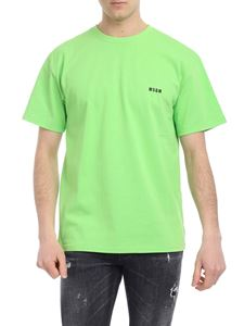 MSGM - Neon green T-shirt with logo