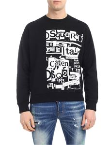 Dsquared2 - Black sweatshirt with lettering print