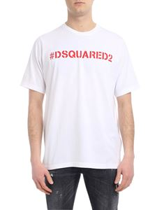 Dsquared2 - White T-shirt with logo print