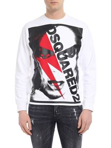 Dsquared2 - White sweatshirt with Bowie print