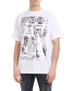 Dsquared2 - White T-shirt with laminated print