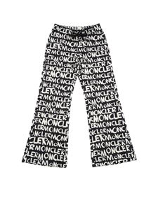 Moncler Jr - Moncler printed black trousers