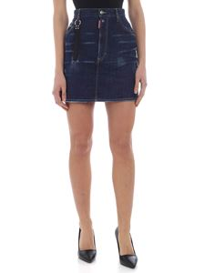Dsquared2 - Blue denim mini skirt with Dsquared2 charm