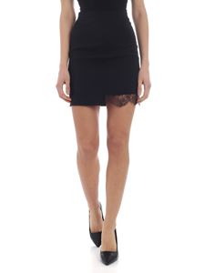 Dsquared2 - Black mini skirt with lace detail