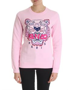 Kenzo - Pink sweatshirt with blue and purple Classic Tiger embroidery