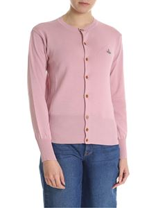 Vivienne Westwood  - Antique pink cardigan with logo embroidery