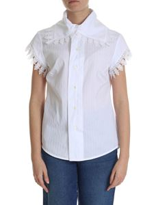 Vivienne Westwood  - White shirt with pierced striped pattern