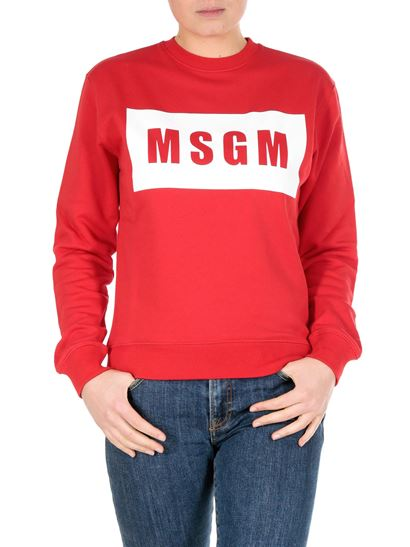 MSGM - Red sweatshirt with box logo