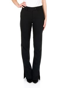 MSGM - Black trousers with satin band