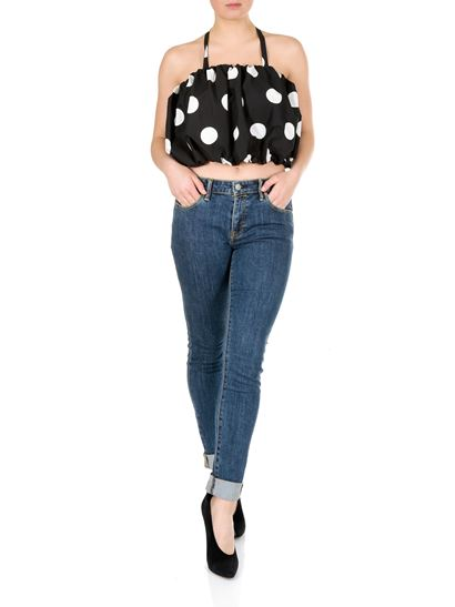 MSGM - Black top with polka dots print