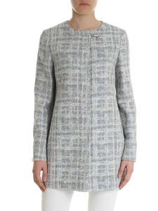 Fay - Blue and cream tweed coat
