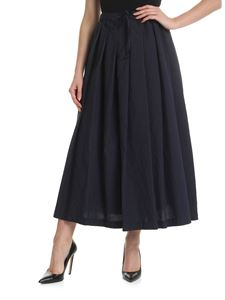 Aspesi - Blue pinstriped pleated skirt
