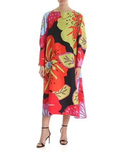 Sofie D'Hoore - Multicolor silk dress with floral print