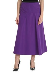 Sofie D'Hoore - Purple flared skirt in cotton