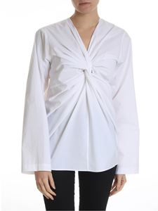 Sofie D'Hoore - White blouse with frontal crossing