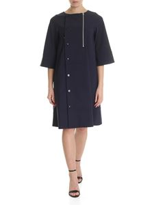 Zucca - Blue overcoat with asymmetric buttoning