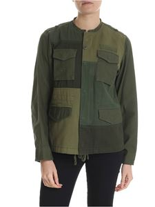 Zucca - Army green patchwork effect jacket