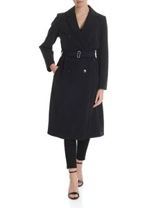 Zucca - Double-breasted trench coat in black