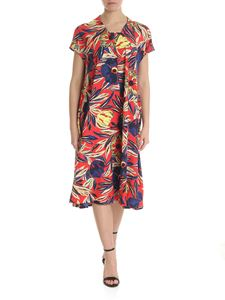 Zucca - Red dress with contrasting floral print
