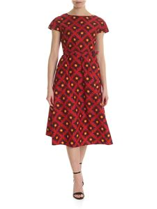 Aspesi - Red dress with contrasting floral pattern