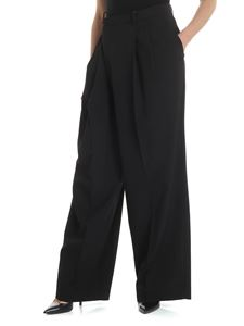 Maison Margiela - Black palazzo trousers with tailored pleat
