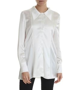 Maison Margiela - Shirt in white silk with lace