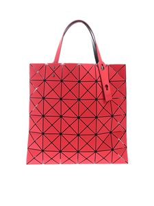 BAO BAO Issey Miyake - Lucent Frost red bag with triangle pattern