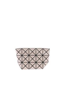 BAO BAO Issey Miyake - Beige Prism clutch with triangles motif