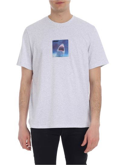 MSGM - Gray t-shirt with MSGM shark patch