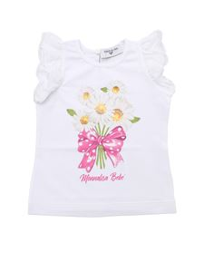 Monnalisa - White top with daisies print