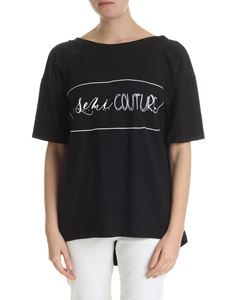 Semicouture - Black t-shirt with Semicouture logo