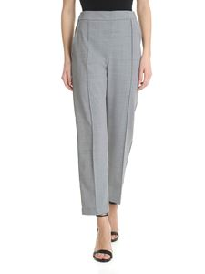 Semicouture - Grey melange trousers with silver bands