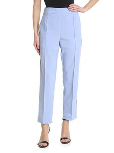 Semicouture - Light blue trousers with silver bands